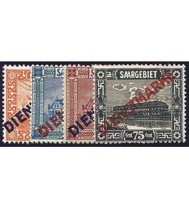 Saar Dienstmarken Nr. 12I-15I