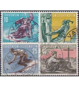 Liechtenstein Nr. 334-337 gestempelt
