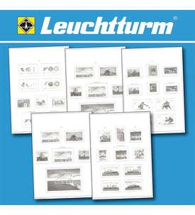 LEUCHTTURM-Vordrucktext SF mit Klarsichttaschen 44 Blatt Andorra Frz. Post 1931-1989  für Briefmarken