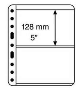 LEUCHTTURM Vario -Hüllen 2 S Pack=5 Hüllen  für Briefmarken
