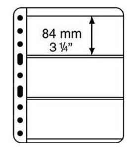 LEUCHTTURM Vario -Hüllen3C - Pack = 5 Hüllen  für Briefmarken