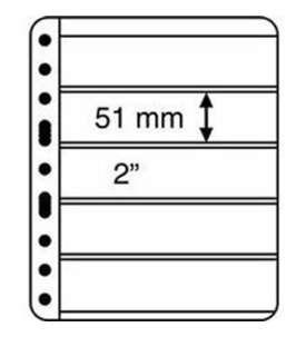 LEUCHTTURM Vario -Hüllen5C - Pack = 5 Hüllen  für Briefmarken