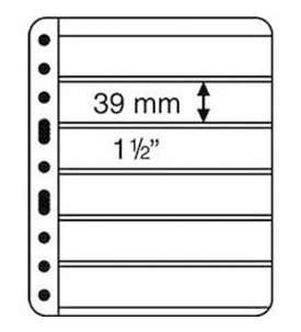 LEUCHTTURM Vario Hüllen 6 SPack=5 Hüllen  für Briefmarken
