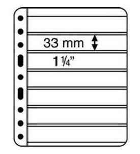 LEUCHTTURM Vario -Hüllen7C - Pack = 5 Hüllen  für Briefmarken