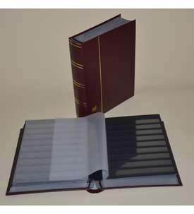 Briefmarkenalbum, Einsteckbuch, Einsteckalbum, 60 schwarze Seiten Briefmarke