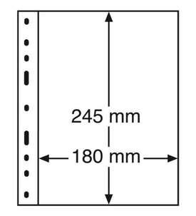LEUCHTTURM Optima Hüllen 1 S Pack=10 Hüllen  für Briefmarken