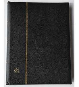 Leuchtturm Premium32 schwarzeSeiten A4 Briefmarkenalbum Einsteckbuch wattierter Ledereinband  für Briefmarken