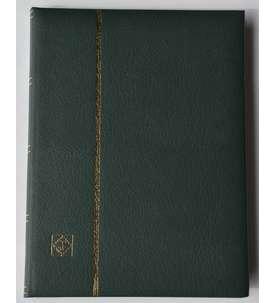 Leuchtturm Premium 64 schwarze Seiten A4 Briefmarkenalbum Einsteckbuch wattierter Ledereinband  für Briefmarken