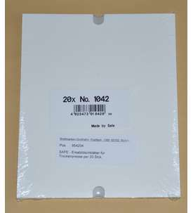 SAFE - Ersatzlöschblätter für SAFE Trockenpresse 1040 per 20 Stck. Briefmarke