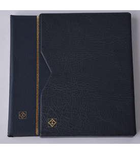 Leuchtturm Premium64 schwarzeSeiten A4 Briefmarkenalbum Einsteckbuch wattierter Ledereinband mit Schutzkassette  für Briefmarken