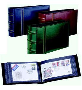 Leuchtturm - FDC Album Classic-Design Rot mit Schutzkassette  für Briefmarken