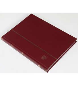LEUCHTTURM Einsteckalbum 32 weiße Seiten, weinroter Einband  für Briefmarken