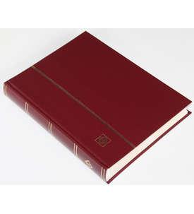 LEUCHTTURM Einsteckalbum 64 weiße Seiten, weinroter Einband  für Briefmarken