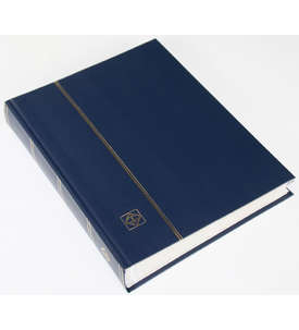 LEUCHTTURM Einsteckalbum 64 weiße Seiten, geteilte Einsteckstreifen, dunkelblauer Einband  für Briefmarken
