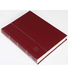LEUCHTTURM Einsteckalbum 64 weiße Seiten, geteilte Einsteckstreifen, weinroter Einband  für Briefmarken