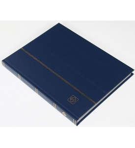 LEUCHTTURM Einsteckalbum 32 schwarze Seiten, dunkelblauer Einband  für Briefmarken