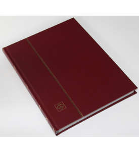 LEUCHTTURM Einsteckalbum 32 schwarze Seiten, weinroter Einband  für Briefmarken