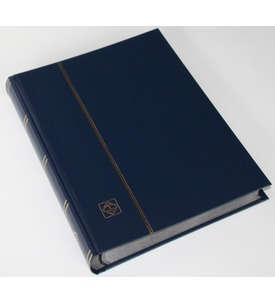 LEUCHTTURM Einsteckalbum 64 schwarze Seiten, dunkelblauer wattierter Einband  für Briefmarken