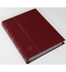LEUCHTTURM Einsteckalbum 64 schwarze Seiten, weinroter wattierter Einband  für Briefmarken