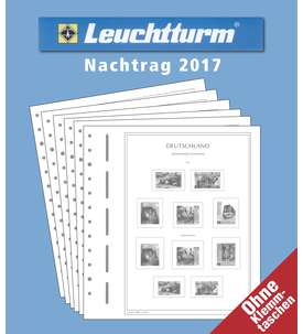 LEUCHTTURM Nachtrag BRD Bund 2017 ohne Schutztaschen  für Briefmarken