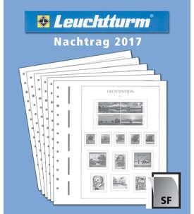 LEUCHTTURM Nachtrag Liechtenstein 2017 mit Klemmtaschen  für Briefmarken