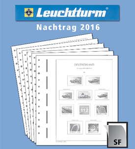 LEUCHTTURM Nachtrag BRD Bund 2016 mit Klemmtaschen  für Briefmarken