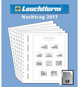 LEUCHTTURM Nachtrag BRD Bund 2017 mit Klemmtaschen  für Briefmarken