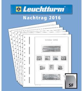 LEUCHTTURM Nachtrag Schweiz 2016 mit Klemmtaschen  für Briefmarken