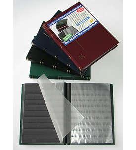 LEUCHTTURM-Luxus-60 schwarze Seiten A4 Briefmarkenalbum Einsteckbuch  für Briefmarken