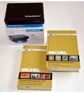 Set: MICHEL Deutschland-Spezial 2017 Band 1+2 komplett + LEUCHTTURM UV-Standgerät Briefmarke
