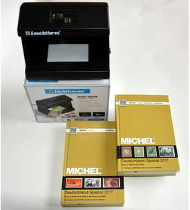 MICHEL Deutschland-Spezial 2017 Band 1+2 komplett + LEUCHTTURM Multitester Briefmarke