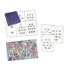 SET: Leuchtturm Vordruckalbum Danzig mit 50 Marken Briefmarke