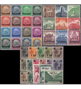 SET: Deutsche Besetzung Luxemburg Nr. 1-41 postfrisch ** Briefmarke
