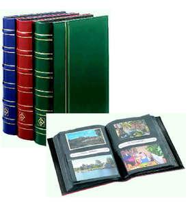 Leuchtturm Doppel-Briefalbum Bordeauxrot  für Briefmarken